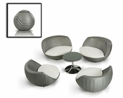 Modern Five-Piece Egg Shape Patio Set 44P654-SET