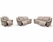Modern Full Leather Sofa Set 44L6092