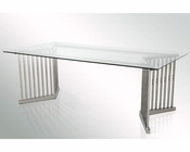 Modern Glass Rectangular Dining Table 44D8978T