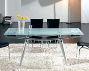 Modern Glass Top Dining Table European Design 33D272