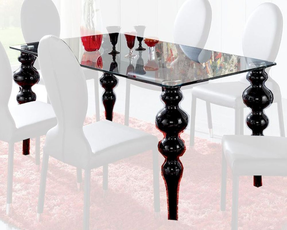 modern glass top dining table european design made in