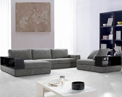 Modern Grey Fabric Sectional Sofa Set  44L0739