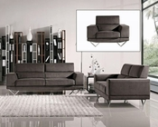 Modern Grey Finish Fabric Sofa Set 44L6105