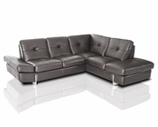 Modern Full Leather Sectional Sofa 44L5930