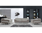 Modern Genuine Leather Sofa Set 44L5945