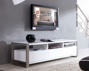Modern High Gloss Media Console in White BM110-WHT