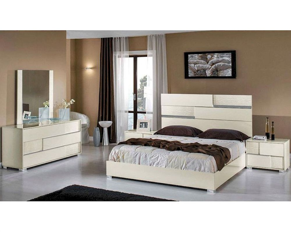 modern italian beige bedroom set 44b112set
