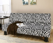Modern Klik Klak Sofa with Animal Print Fabric Maple MO-MAP