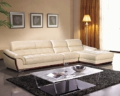 Modern Leather Curvy Design Sectional Sofa 44L6038