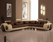 Modern Leather Sectional Sofa with Recliners 44L4087