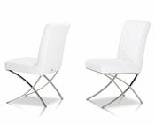 Modern Leatherette White Dining Chair 44D1012