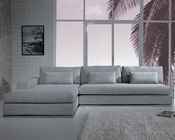 Modern Light Grey Fabric Sectional Sofa 44L6096