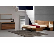Modern Light Walnut Finish Storage Bedroom Set Made in Italy 44B6711