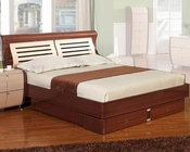 Modern Made in Italy Two Tone Storage Bed 44B4212