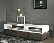 Modern Media Console in High Gloss White BM635-BRN