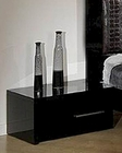 Modern Night Stand in Black Finish Made in Italy 44B5113B