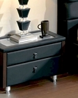 Modern Night Stand in Black Made in Spain 33B53
