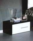 Modern Night Stand in Black/ White Finish Made in Italy 44B5113BW