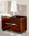 Modern Night Stand in Dark Cherry Finish Made in Italy 33B33