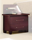 Modern Night Stand in Dark Cherry Made in Italy 33B83