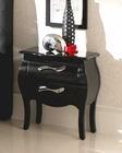 Modern Night Stand Natalia in Black Made in Spain 33B303