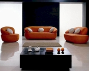 Modern Orange Fabric Sofa Set 44LH01