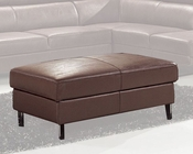 Modern Ottoman in Brown Finish 33LS12