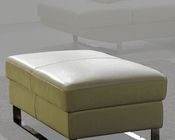 Modern Ottoman in Off White Finish 33LS22