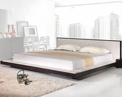 Modern Platform Bed in Wenge Finish Made in Italy 44B2112