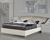 Modern Platform Bed Onda in White Color 33140ON