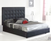 Modern Platform Bed Sevilla in Black Made in Spain 33B262