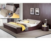 Modern Platform Bed w/ Lights, Cup Holders and iPad Holder 44B135BD