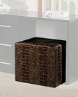 Modern Pouffe in Brown Finish Made in Italy 44B5122BR