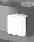 Modern Pouffe in White Finish Made in Italy 44B5122W