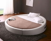 Modern Round Leather Bed 44B198BD