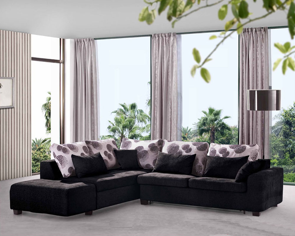 Modern Sectional Set with Sleeper Sofa and Storage haise 33LS61 - ^