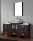 Modern Single Espresso Bathroom Set Dior by Virtu USA VU-KS-70060-S-ES