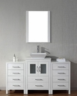 Modern Single White Bathroom Set Dior by Virtu USA VU-KS-70060-S-WH