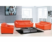 Modern Sofa Set European Design in Orange Finish 33SS271