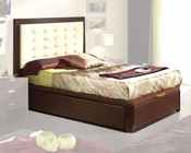 Modern Style Bed in Wenge Finish Made in Spain 33B12