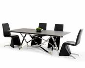 Modern Style Dining Set Wenge Table 44D1201W-SET