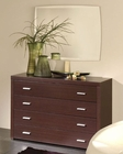 Modern Style Dresser and Mirror in Wenge Finish Made in Spain 33B14