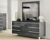 Modern Style Dresser and Mirror Made in Italy Elite 33190EI
