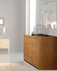 Modern Style Dresser in Maple Finish Made in Spain 33B25