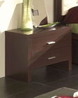 Modern Style Night Stand in Wenge Finish Made in Spain 33B13
