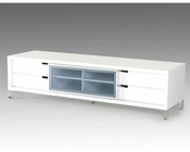 Modern Style White TV Stand 44ENT30F-WHT