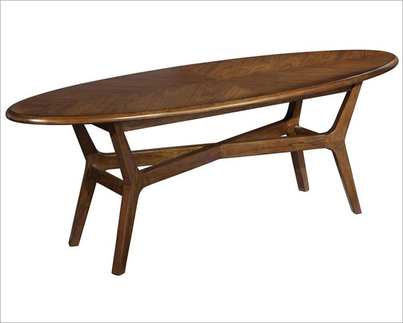 Modern Surfboard Coffee Table Mid Century By Hekman HE 951304MW