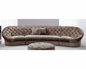 Modern Tufted Fabric Sectional Sofa 44L6039