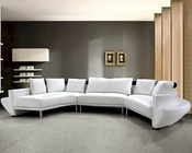 Modern Tufted Leather Sectional Sofa Set 44L0510