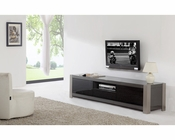 Modern TV Console in High Gloss Grey BM-140-GRY